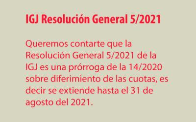 IGJ Resolución General 5/2021